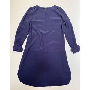 Madewell Size Small Navy Blue Drop Waist Dress